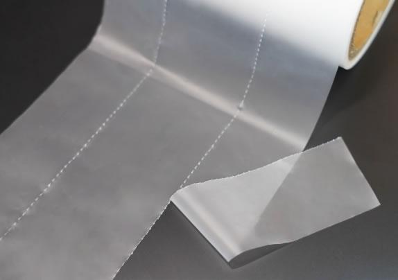 ミシン目加工など各種フィルムのスリッター加工も可能です。